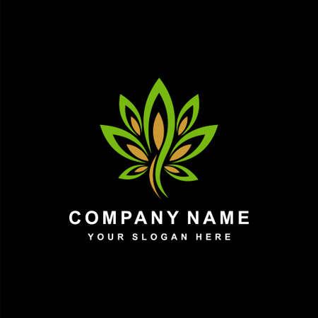 abstract cannabis logo design element