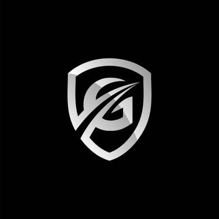 letter G guard, logo template Illusztráció