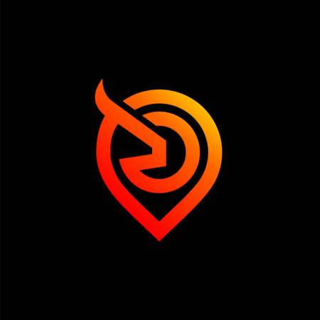 bull point logo design