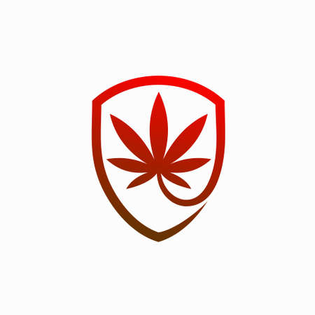 CBD with shield vector template