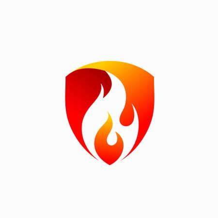 fire protection vector logo design