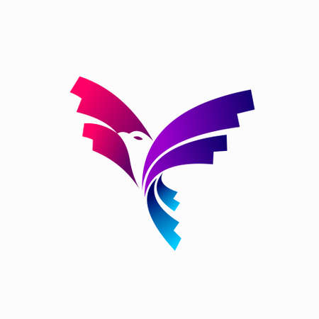 Flying Bird logo with modern concept
