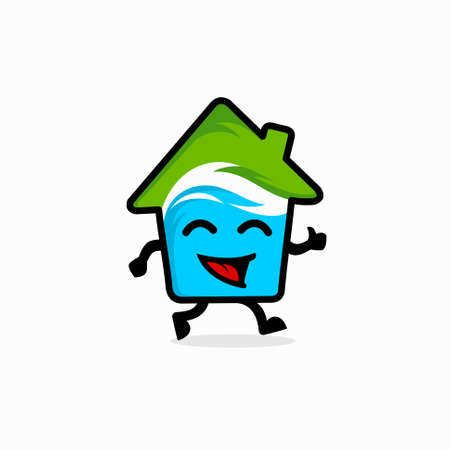 house mascot logo, HVAC characters logo