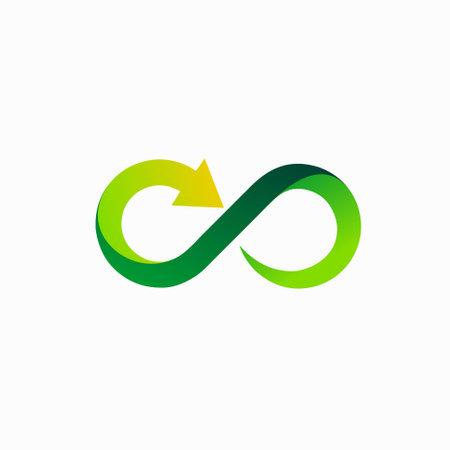 infinity logo with arrow concept Logos
