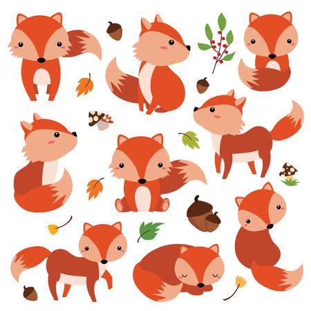 Clip arts of character fox cartoon