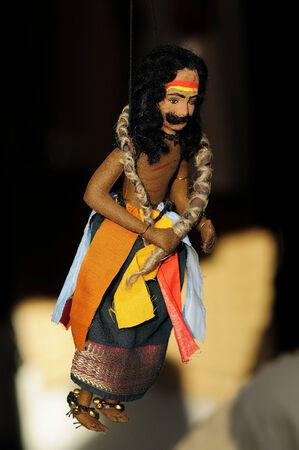 lord vishnu: Jute Puppet - Potraj is an avatar of Lord Vishnu in India