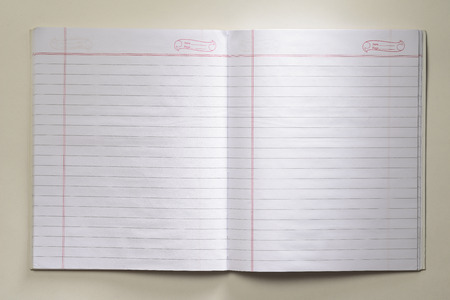 Blank Open Notebook  photo