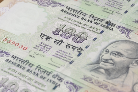 indian currency: Indian Currency - One Hundred Stock Photo