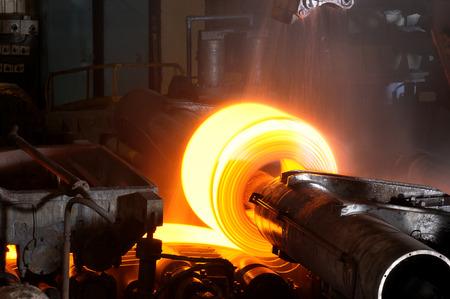 Close up of Hot Steel Roll Standard-Bild