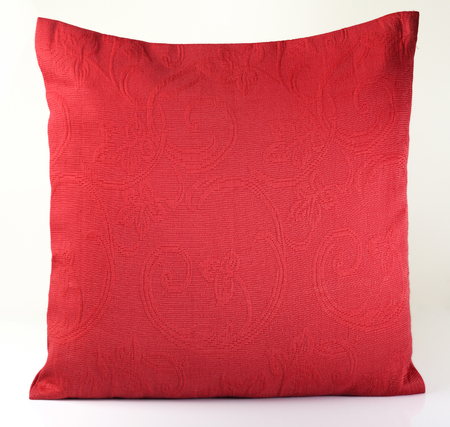 cushioning: Red Pillow on white background