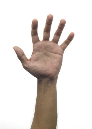 unknown age: Human Hand Stock Photo