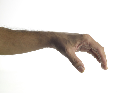 unknown age: Human Hand Grabbing -Lifting Gesture