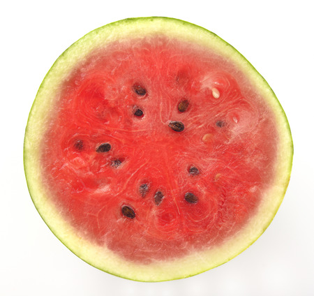 cross section: Cross Section of  Red Water Melon with Black Seeds