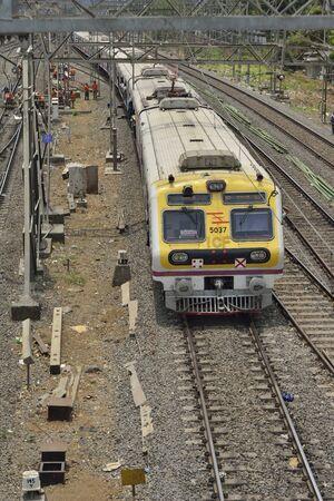 linemen: Mumbai Local Train Changing Track on Western Railway Line Editorial