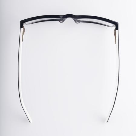 眼鏡の上から見る 写真素材