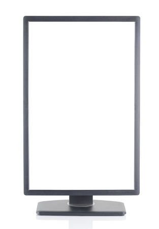over white background: Computer Monitor Over White Background Stock Photo