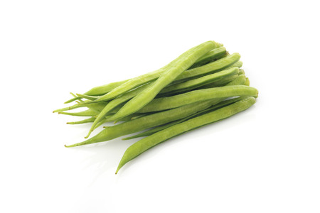 guar: Cluster Beans on White Background