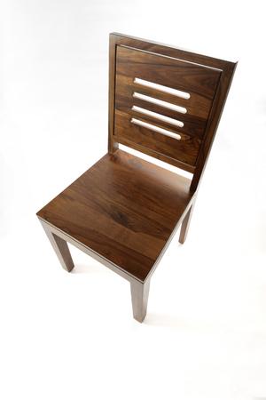 silla de madera: Vista en perspectiva de Marrón Silla de madera