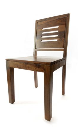 silla de madera: Silla de madera de Vista en perspectiva Foto de archivo