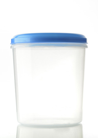 plastic container: Plastic Container With Blue Lid