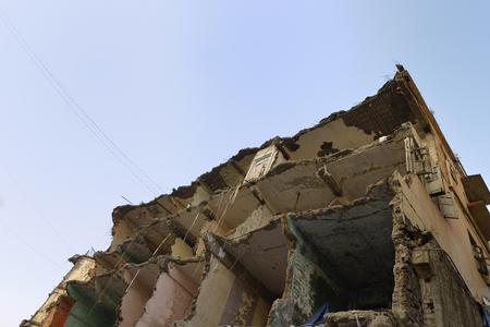 earthquake crack: Abandoned Demolished Building