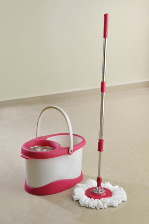 microfiber: Cleaning mop and Bucket With Drying Spinner
