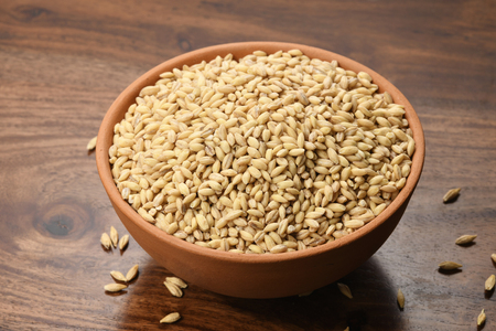 Close up of Barley in a Earthen Bowl