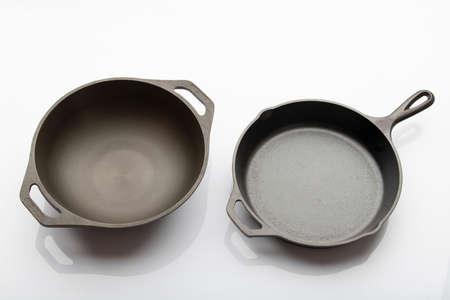 Top View of Seasoned Cast Iron Pan
