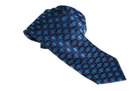 blue  necktie on a white background photo