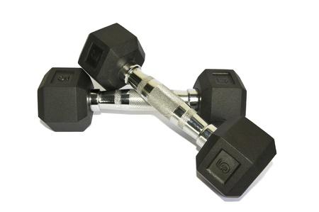 Hand Gewichte auf weißem Hintergrund Standard-Bild - 14021210