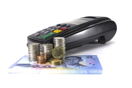 Credit card reader machine and money its make