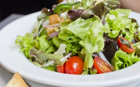 caesar salad: Fresh Caesar salad,Concept ror healthy lifestyle Stock Photo