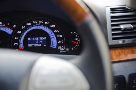 Close up of dashboard on luxury car,Focus on Dash board photo