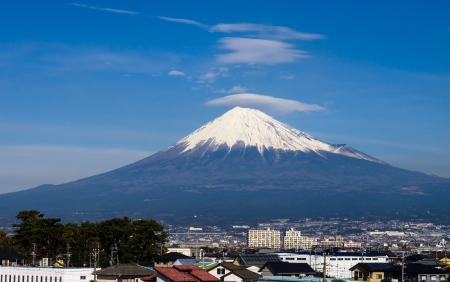 Mount Fuji,Japan,View from high speed train