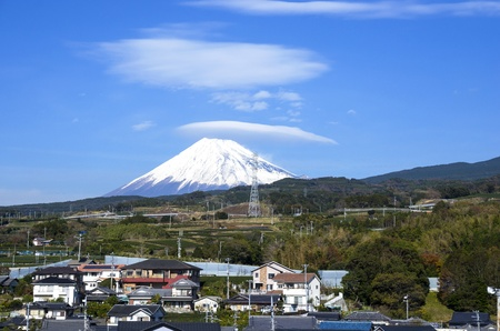 Mount Fuji,Japan,View from high speed train photo