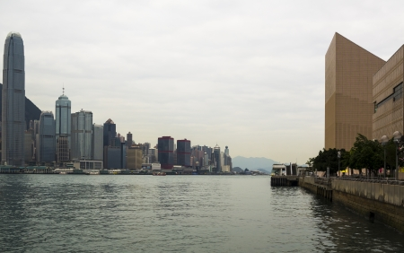 sea life centre: Victoria Harbor in the morning of Hong Kong