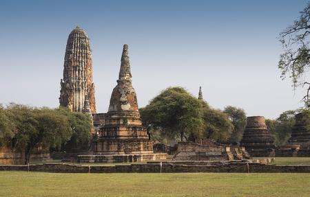 ayuthaya: the old capital of Thailand , Called Ayuthaya ,landmark  for tourist Stock Photo