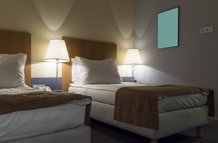 double beds: Luxury hotel room ,with double beds