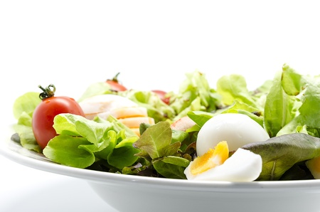 Mediterranean-style salad with boiled eggs