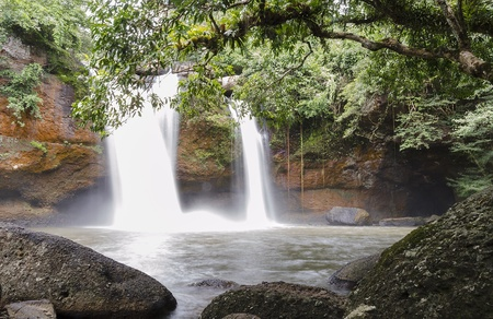 Waterfall in Khao Yai,Thailand. Name Haew Suwat photo