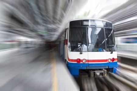 Modern high speed train with motion blur Standard-Bild