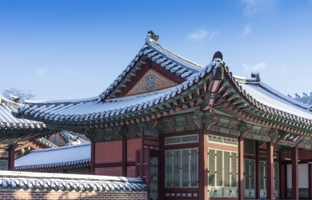 Gyeongbokgung palace in Seoul, Korea Standard-Bild