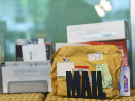 Personal mail from postal service Stock Photo