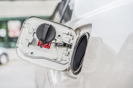 refuel: Petrol cap cover on a car wait for refuel