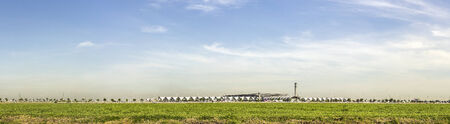suvarnabhumi: panorama view of Suvarnabhumi airport , Bangkok, Thailand Stock Photo