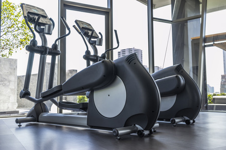 elliptical cross trainer in  fitness room