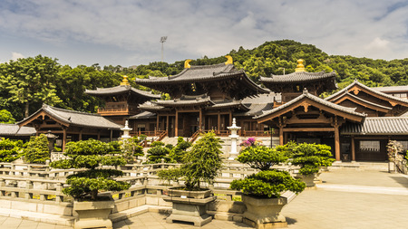tang: Chi lin Nunnery, Tang dynasty style Chinese temple, Hong Kong