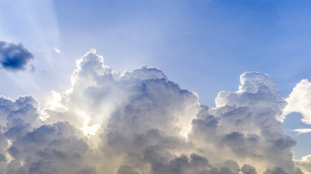 cloudscape: Beautiful cloudscape with sunray