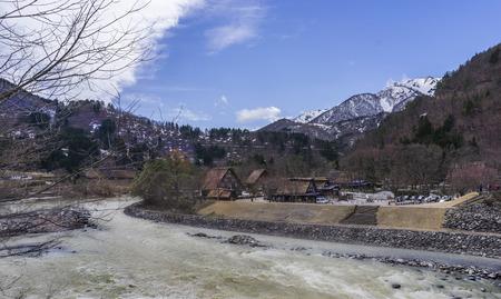 ogimachi: View of historic village Shirakawa-go, Gifu prefecture, Japan