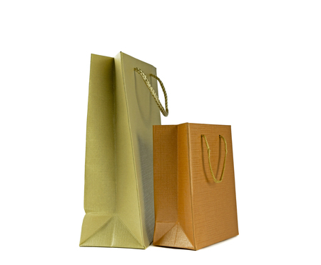 brown paper bag: Brown paper bag , Isolated on white background Stock Photo